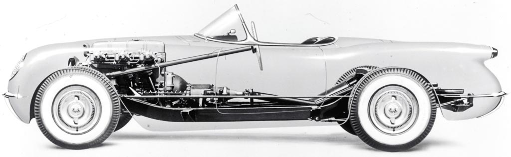 1953 Corvette X-Ray View