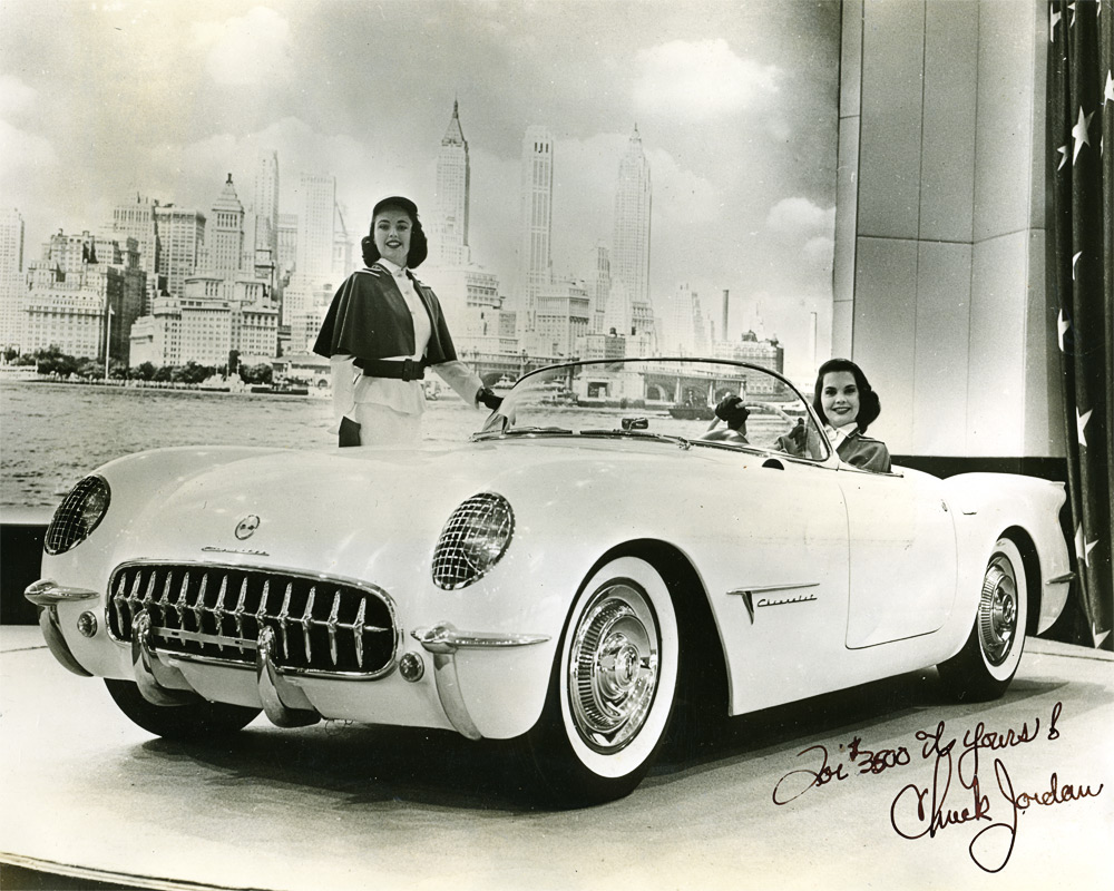 Chevrolet Corvette EX-122 with Chuck Jordan signature