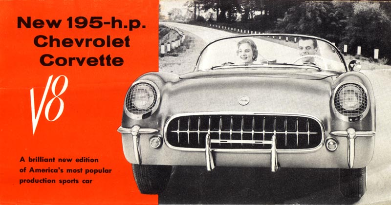 1955 Chevrolet Corvette Brochure Cover