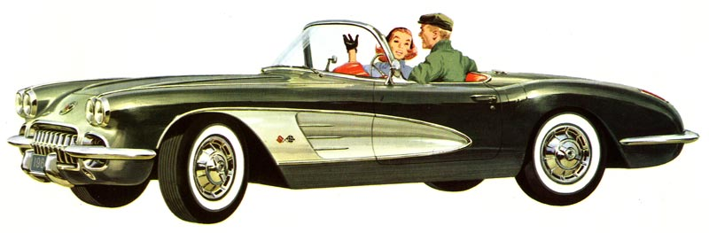 1960 Chevrolet Corvette Brochure Illustration