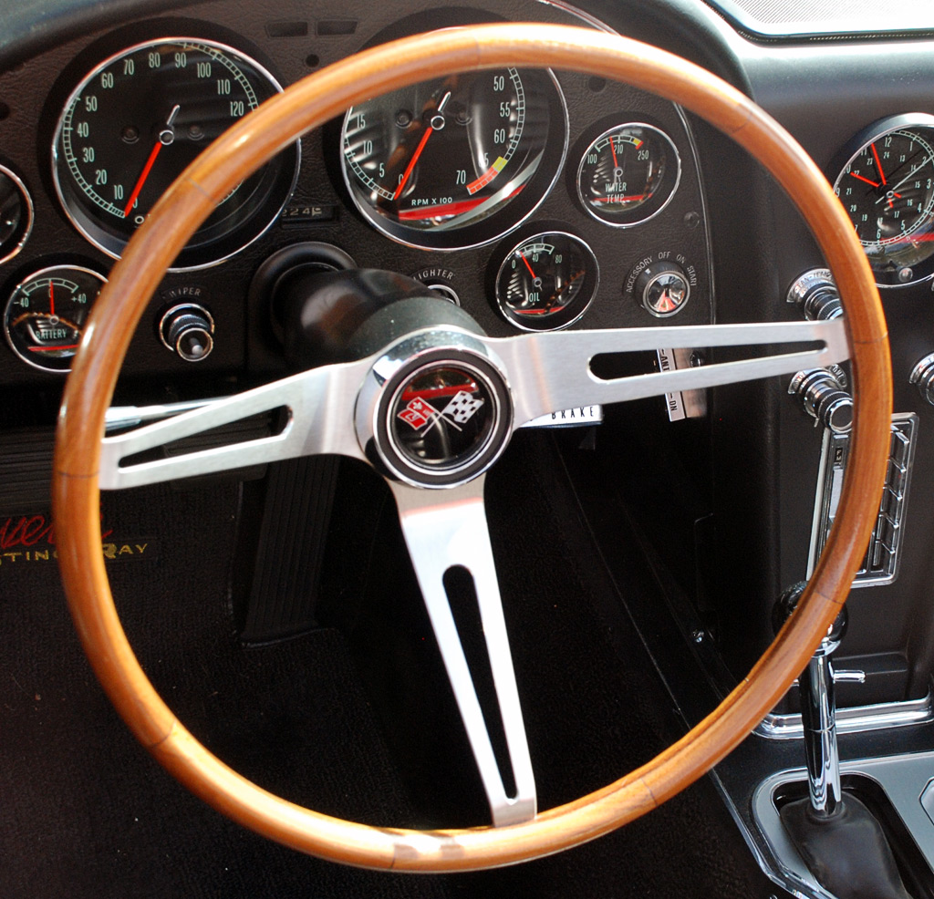 1966 Chevrolet Corvette Teak Steering Wheel