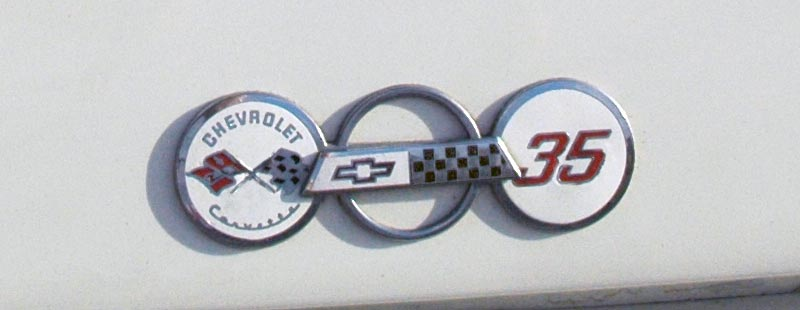1988 Chevrolet Corvette 35th Anniversary Fender Emblem