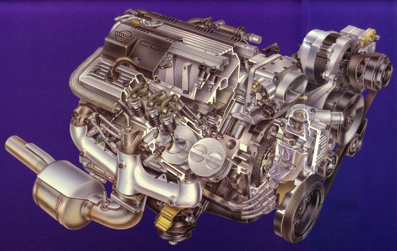1992 Chevrolet Corvette LT1 Engine