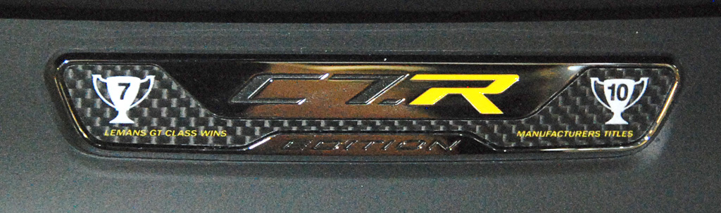 2016 Corvette C7.R Special Edition Dash Plaque